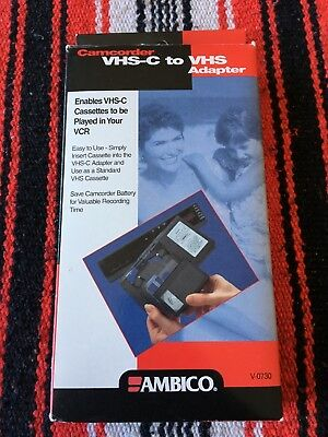Ambico VHS-C to VHS Adapter - in Box