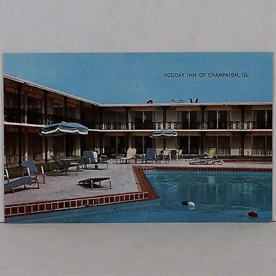 Vintage Holiday Inn of Champaign, Illinois Souvenir Post Card No Reserve!