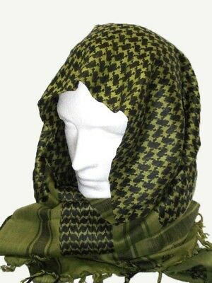 Shemagh - Scarf - Cotton available in Olive Black & Red White - Army & Military