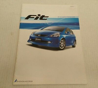 2002 Honda Fit Access Accessories Catalog Brochure 1g Jazz Modulo Japan HTF
