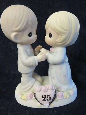 """1 ENESCO PRECIOUS MOMENTS """"Our Love Still Sparkles In Your Eyes""""  25 ANNIVERSARY"""