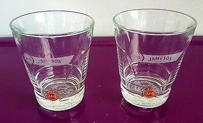 Jameson Irish Whiskey Tapered Style Monogrammed Red Dot Tumbler Glass