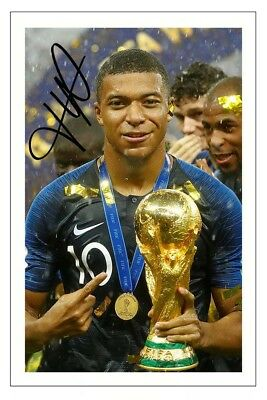 Kylian Mbappe France World Cup Final 2018 Soccer Signed Autograph Photo Print