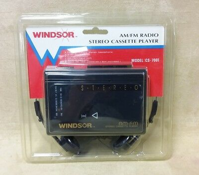 Vintage Stereo Cassette Player Windsor CS-700I AM/FM Radio Player Auto Stop New!