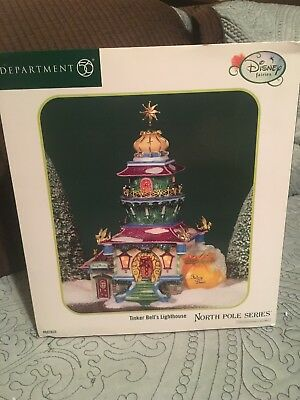 Department 56 North Pole Disney Tinkerbell's Lighthouse RETIRED