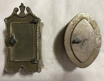 Lot Of 2 Vintage Door Knockers - Peep Hole - Speak Easy