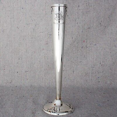 Antique 1911 Shreve & Co Sterling Silver Bud Vase 14th Century Pattern 8.5""