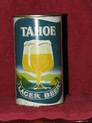 Tahoe Lager Beer flat top beer can Maier Brewing Co. L.A.
