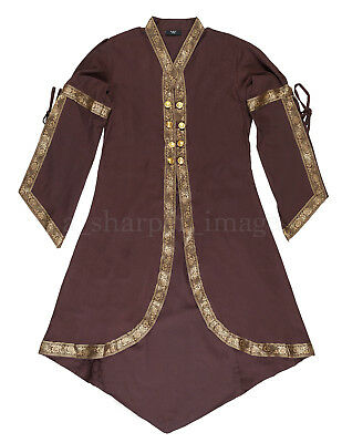 Renaissance SCA LARP Cloak Over-Dress Medieval Cosplay Brown One Size NEW