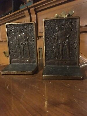 """Last of the Mohicans"" Solid Bronze Bookends by Judd"