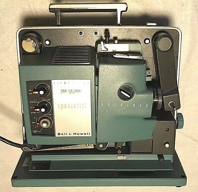 VINTAGE BELL & HOWELL FILMOSOUND SPECIALIST AUTOLOAD 16mm MOVIE PROJECTOR WORKS