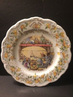 "Royal Doulton Brambly Hedge ""crabapple Cottage"" Plate In Mint Condition"