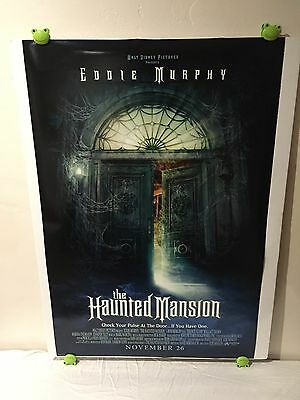 Haunted Mansion Movie Poster 27x40 One Sheet **Rare 2003 Double Sided