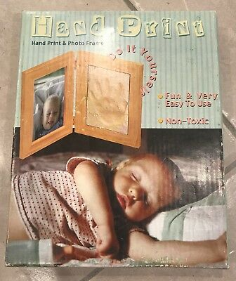 Do it Yourself Baby Hand Print and Photo Frame New in Box Keepsake memory