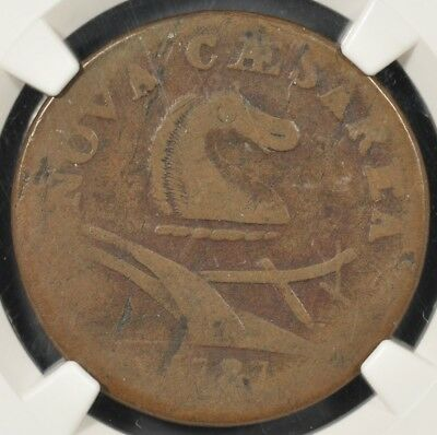 1787 Ngc G6Bn New Jersey Colonial Copper Small Planchet Plain Shield Good-6