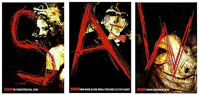 Saw (2004) Original Set Of 3 Advance Movie Posters  -  Rolled  -  Single-Sided