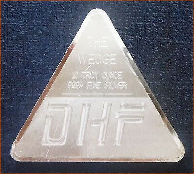 RARE ! 10 oz .999 Silver TRIANGLE THE WEDGE DHF - DISCONTINUED Art 2047