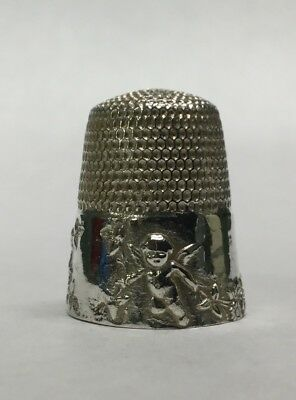 Antique Victorian Sterling Silver Handcrafted Artisan Cupid Thimble