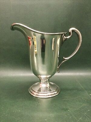 Beautiful Silver Plated Footed Large Water Pitcher Marked London Hallmarked