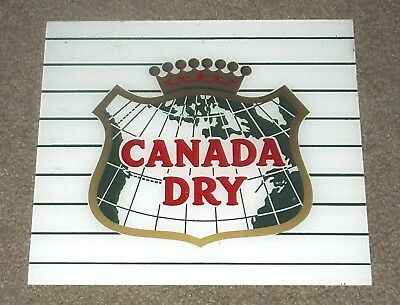 Vintage Original Canada Dry Acrylic  Sign Minty New Old Stock-In Wax Paper!!!