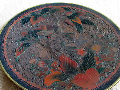 Antique Japanese Chinese Cloisonne Plate