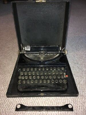 Antique Remington Rand Typewriter With Case **Amaizng Condition!**