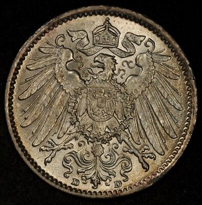 1915-D Germany Mark Lustrous Uncirculated
