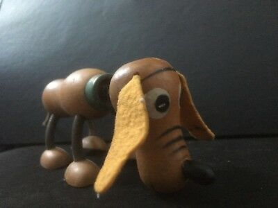 Vintage Pluto the Pup Wood Toy Walt Disney c.1930's Fun-e-Flex