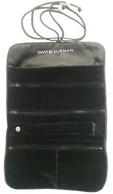 David Yurman Black Velvet Jewelry Travel Roll Pouch NEW