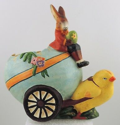 "INO Schaller Candy Container ""Rabbit w Chick Egg Cart"""