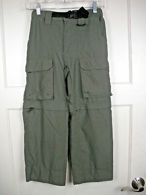 Boy Scouts Of America BSA Switchback Convertible Green Pants Shorts Youth M