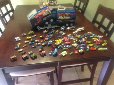 Large Lot Of Vintage Micro Machines And Play/carry Case