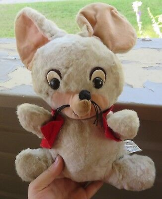 Vtg Knickerbocker Huckleberry Hound Pixie Dixie Mouse Plush Character Toy