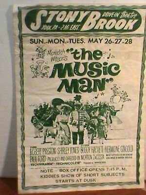 drive-in theater fldr: Stony Brook, York,PA ads: The Music Man, Back Street 1963