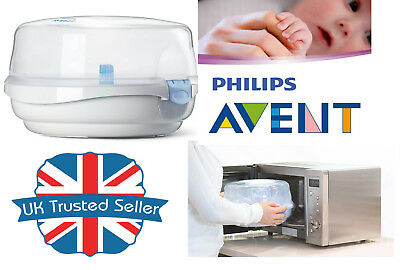 Philips Avent Baby bottles Microwave Steam Steriliser Cold Water Fits 4 bottles