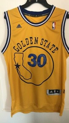 separation shoes d7137 a479d ADIDAS GOLDEN STATE Warriors Stephen Curry Throwback Jersey Size Medium