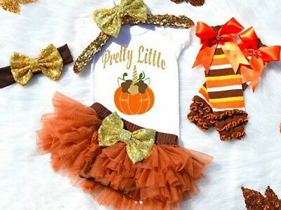 US Halloween Newborn Baby Girl Romper Tops Tutu Tulle Dress Outfit Clothes 0-3T