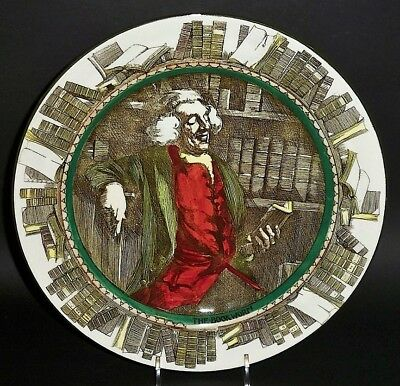 """Rare Royal Doulton / The Professionals Series / THE BOOKWORM 10 1/2"""" Plate D3089"""