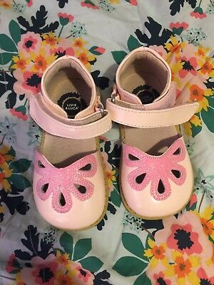 Livie luca Blush Pink Petals girl shoes size 6 Toddler Sandals Velcro Glitter