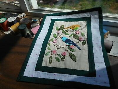Handmade Miniature Quilt - Birds of a Feather  - OOAK