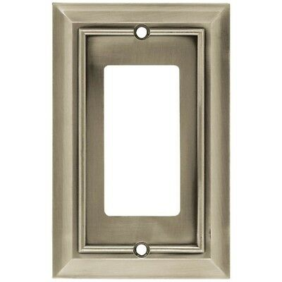 SATIN NICKEL SWITCH PLATE 4 Pack Architectural Decorative Single Rocker Bay NEW