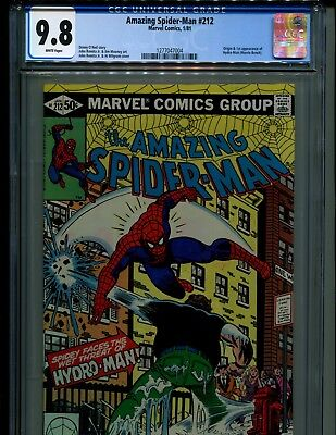 Amazing Spider-Man 212 Cgc 9.8 W Pgs V. 1! Origin And 1St Hydro-Man! Looks 10.0!