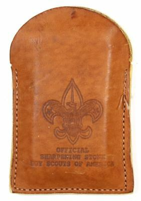 Boy Scouts of America Knife Sharpening Stone and Leather Case