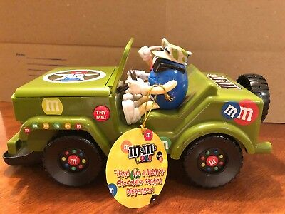 M&m Military Jeep Candy Dispenser With Lights & Sound, Euc, Batteries Incl