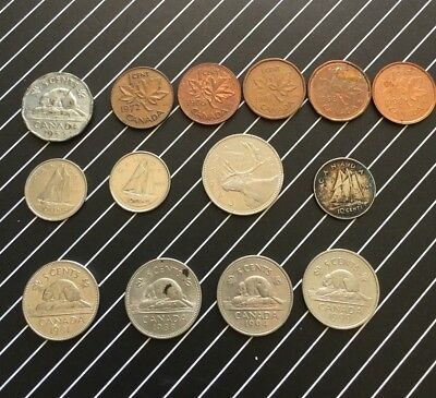 Canadian Coins  Bulk All In  Good Condition