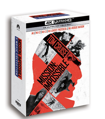 """MOVIE """"MISSION IMPOSSIBLE """"  Blu-ray  5 MOVIE BD+4K UHD COLLECTION (10 DISC)"""