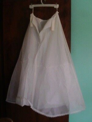 Crinoline/Hoop skirt Long  Size Small Bridal or Prom A Line