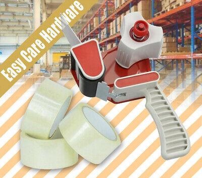 Safety Packing Tape Dispenser Handle Gun Packaging 48mm x 75m Sticky Clear Tapes