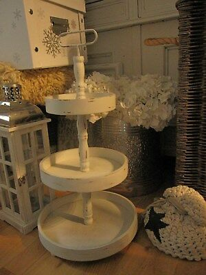 Shabby chic, Etagere, 3 Etagen, Holz, Metall, chic antique, top!