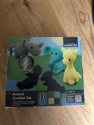 Animal Crochet Set - Blue Wool Kit